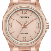 Citizen Eco Drive FE7053 51X Drive Rose Gold Steel 35mm Solar Womens Watch 133570335734
