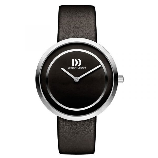 Danish Design IV13Q1064 Black Dial Stainless Steel Black Leather Womens Watch 122246233784