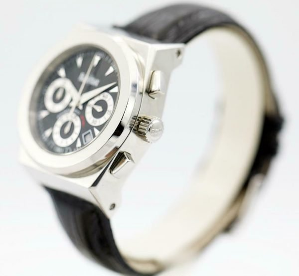 ECW European Company Panhard F16 Black Dial Leather 40mm Automatic Mens Watch 114015922874 2