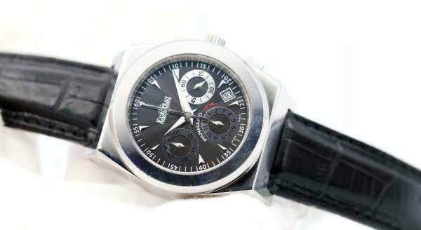 ECW European Company Panhard F16 Black Dial Leather 40mm Automatic Mens Watch 114015922874 3