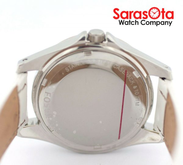 Fossil CE1065 DayDate Stainless Steel White Leather Quartz Dress Womens Watch 122009129144 10