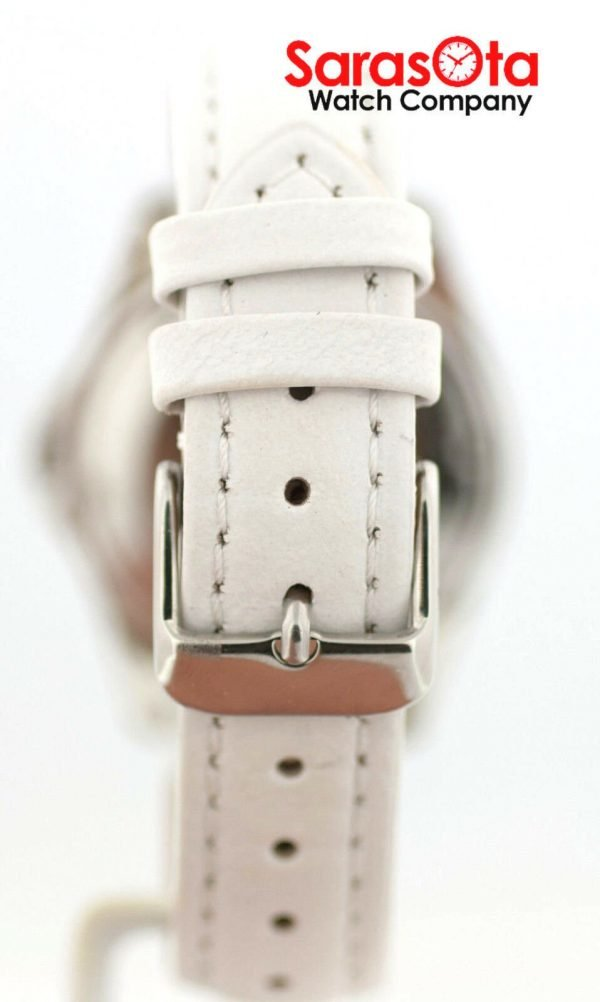 Fossil CE1065 DayDate Stainless Steel White Leather Quartz Dress Womens Watch 122009129144 11