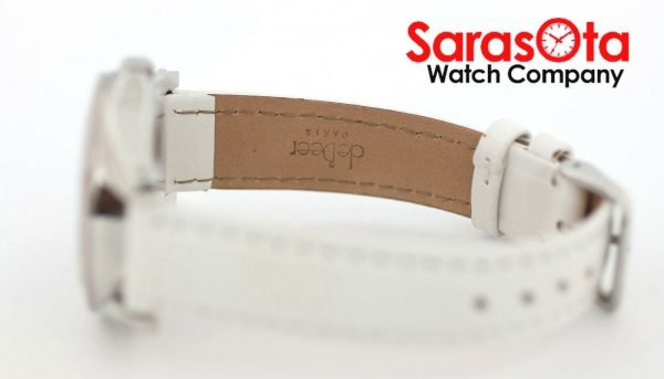 Fossil CE1065 DayDate Stainless Steel White Leather Quartz Dress Womens Watch 122009129144 8