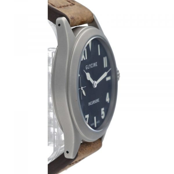 Glycine Incursore 3762 Stainless Steel 44mm Leather Manual Wind Mens Watch 133604964074 4