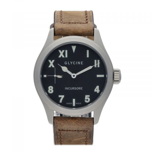 Glycine Incursore 3762 Stainless Steel 44mm Leather Manual Wind Mens Watch 133604964074