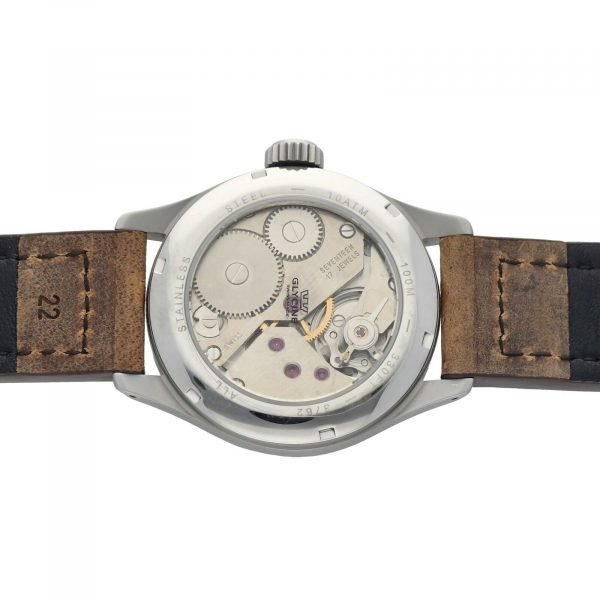 Glycine Incursore 3762 Stainless Steel 44mm Leather Manual Wind Mens Watch 133604964074 8