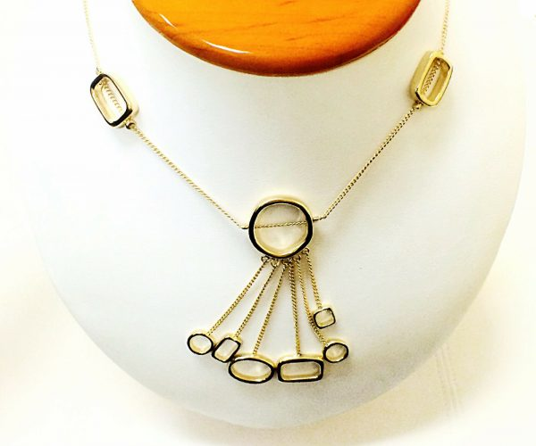 Gold Tone 27 Womens Fashion Necklace 122031915974