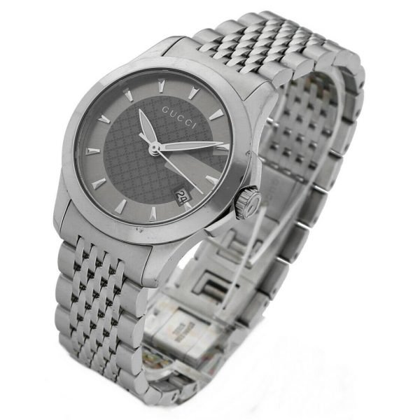 Gucci 1265 Gray G Dial Stainless Steel 27mm Quartz Womens Watch 124306171214 3