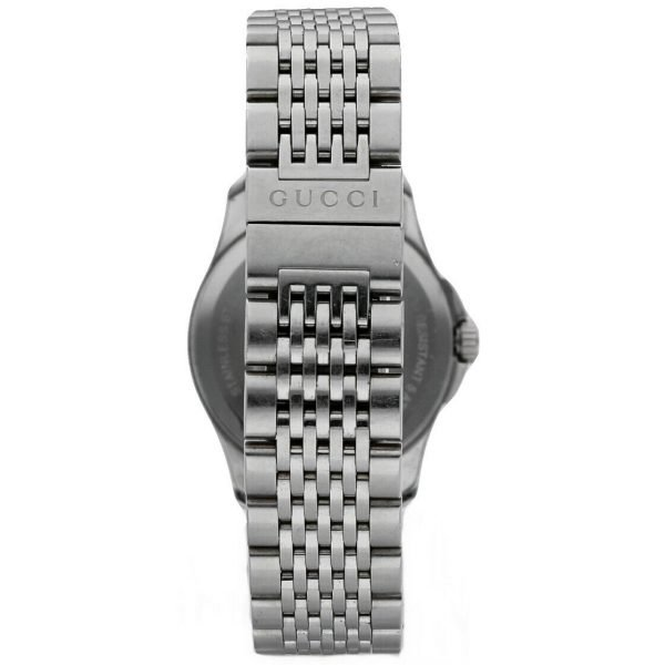 Gucci 1265 Gray G Dial Stainless Steel 27mm Quartz Womens Watch 124306171214 4