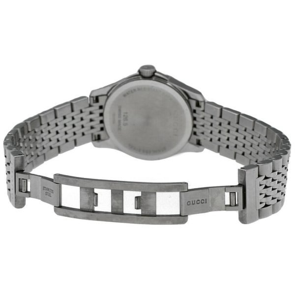 Gucci 1265 Gray G Dial Stainless Steel 27mm Quartz Womens Watch 124306171214 5