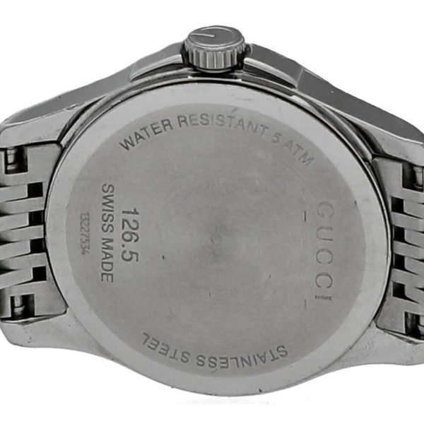 Gucci 1265 Gray G Dial Stainless Steel 27mm Quartz Womens Watch 124306171214 6