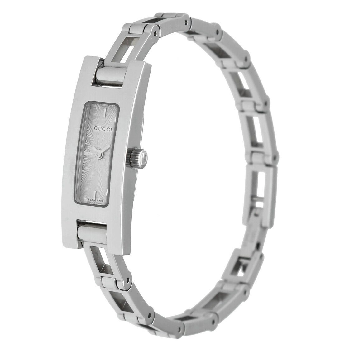 Gucci 3900L Stainless Steel Silver Dial Rectangle Swiss Quartz Womens Watch 133538249984 2