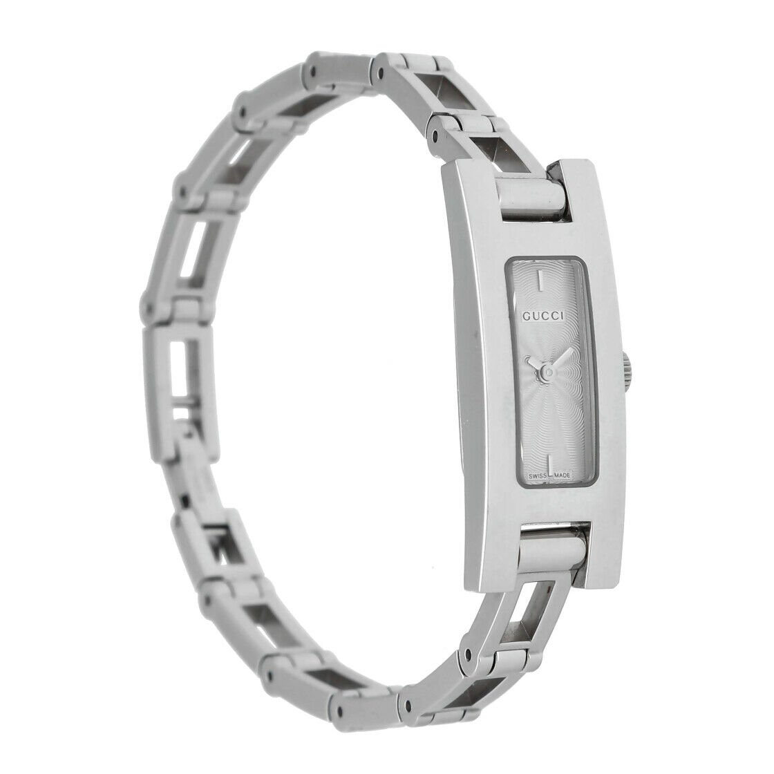 Gucci 3900L Stainless Steel Silver Dial Rectangle Swiss Quartz Womens Watch 133538249984 3