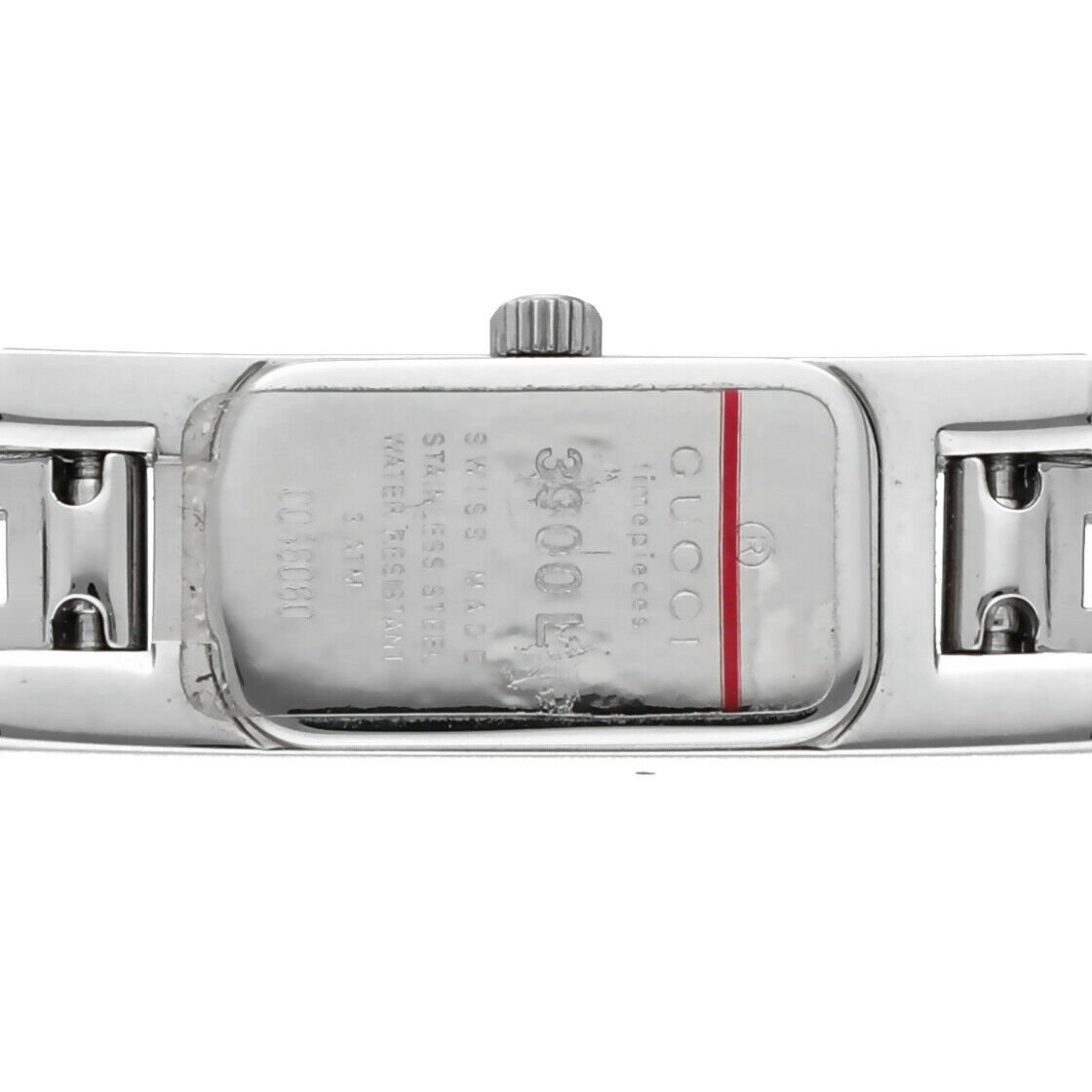 Gucci 3900L Stainless Steel Silver Dial Rectangle Swiss Quartz Womens Watch 133538249984 7