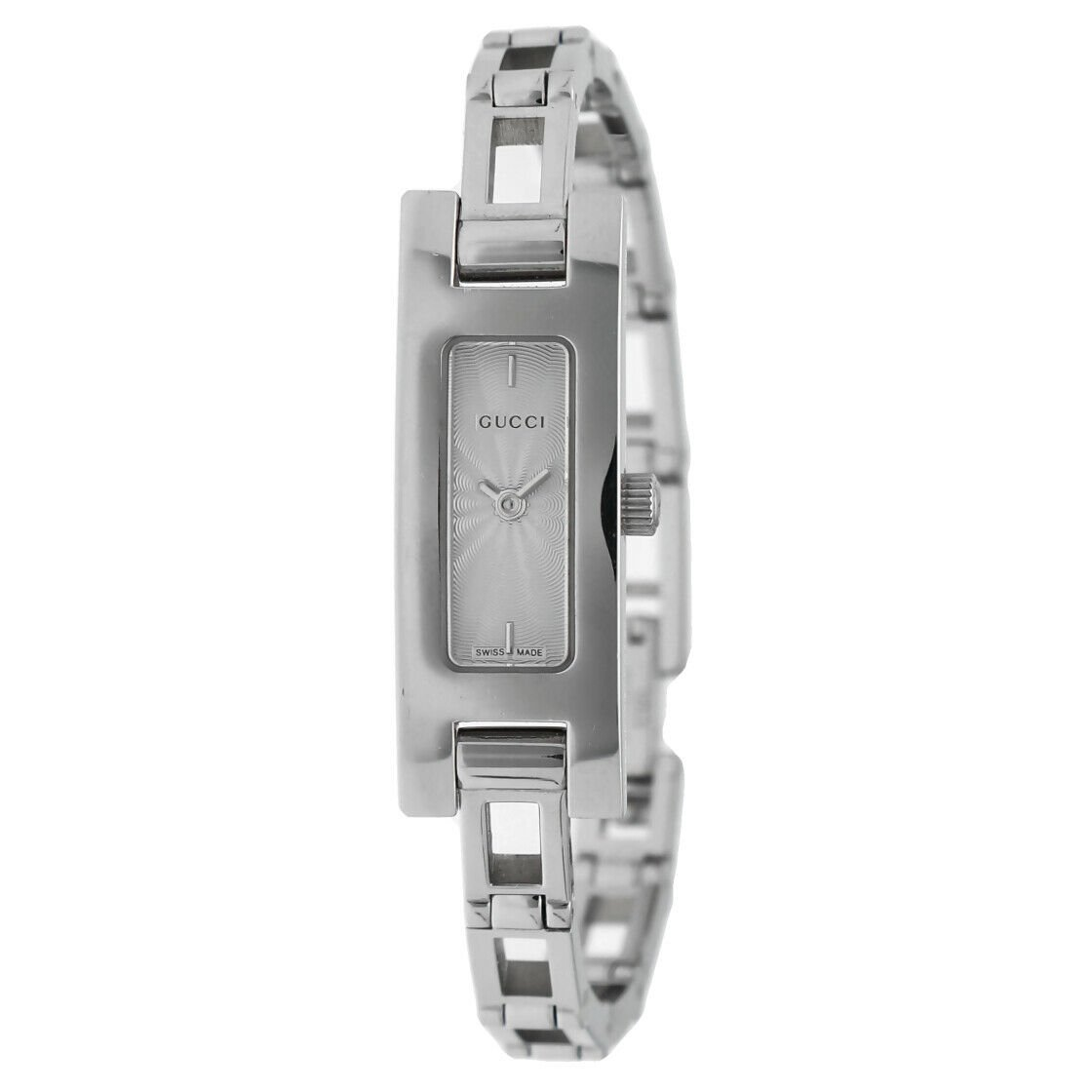 Gucci 3900L Stainless Steel Silver Dial Rectangle Swiss Quartz Womens Watch 133538249984