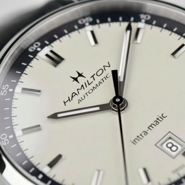 Hamilton H38425720 American Classic Intra Matic 40mm Steel Automatic Mens Watch 124826548514 4