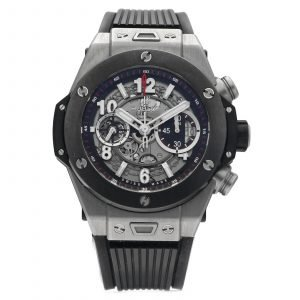Hublot Big Bang Unico 411NM 1170RX Chrono Skeleton Titanium Rubber Wrist Watch 124550503524