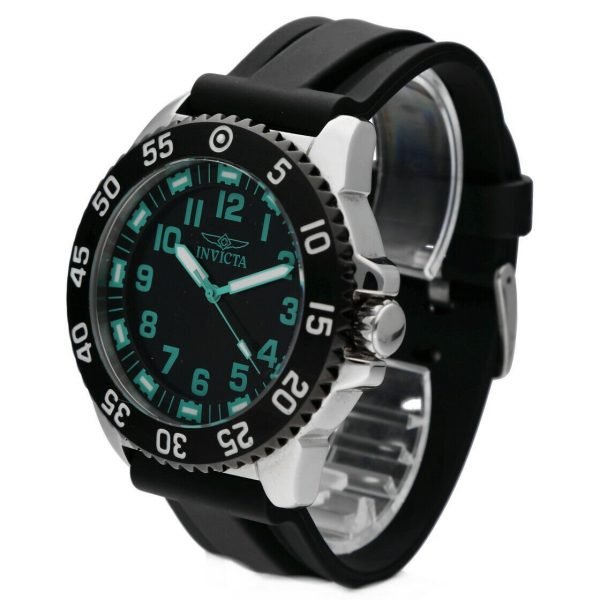 Invicta 1099 Specialty 48mm Stainless Steel Black Rubber Quartz Mens Watch 114499775734 2