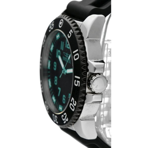 Invicta 1099 Specialty 48mm Stainless Steel Black Rubber Quartz Mens Watch 114499775734 3