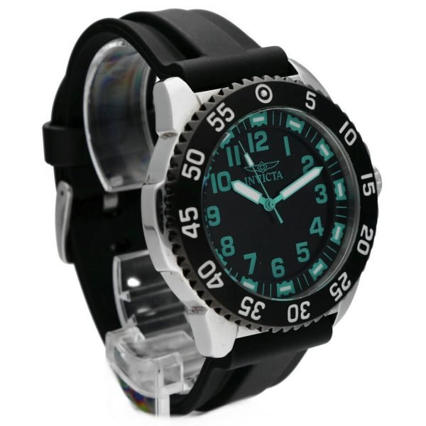 Invicta 1099 Specialty 48mm Stainless Steel Black Rubber Quartz Mens Watch 114499775734 5