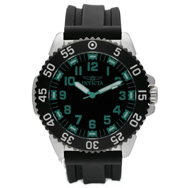 Invicta 1099 Specialty 48mm Stainless Steel Black Rubber Quartz Mens Watch 114499775734