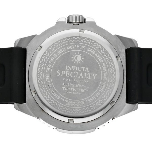 Invicta 1099 Specialty 48mm Stainless Steel Black Rubber Quartz Mens Watch 114499775734 8