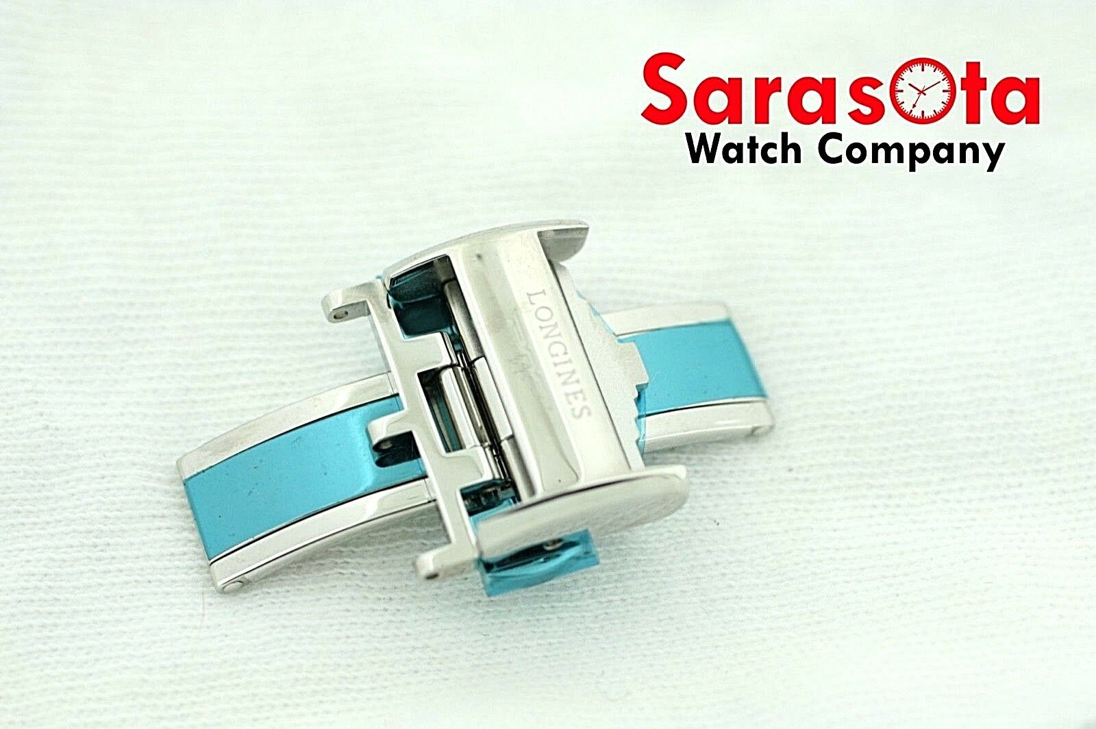 100 Original Longines Stainless Steel Watch Butterfly Buckle 18mm Leather Band 113496797985 3