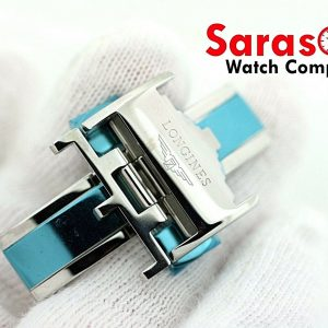 100 Original Longines Stainless Steel Watch Butterfly Buckle 18mm Leather Band 113496797985