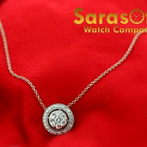 14k White Gold 175ct Diamonds Round 13mm Pendant 145 Chain Choker Necklace 113519089345