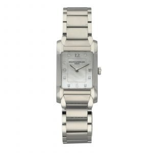 Baume Mercier Hampton M0A10050 Diamond MOP Rectangle Steel Quartz Ladies Watch 124556323995