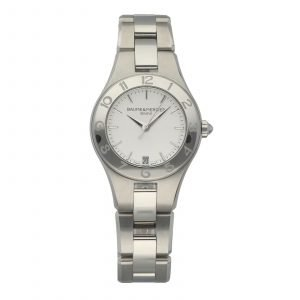 Baume Mercier Linea M0A10070 Stainless Steel 32mm Silver Quartz Ladies Watch 114663464025