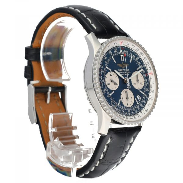 Breitling A23322 Navitimer Blue Dial 42mm Chrono Leather Automatic Mens Watch 114610560905 5