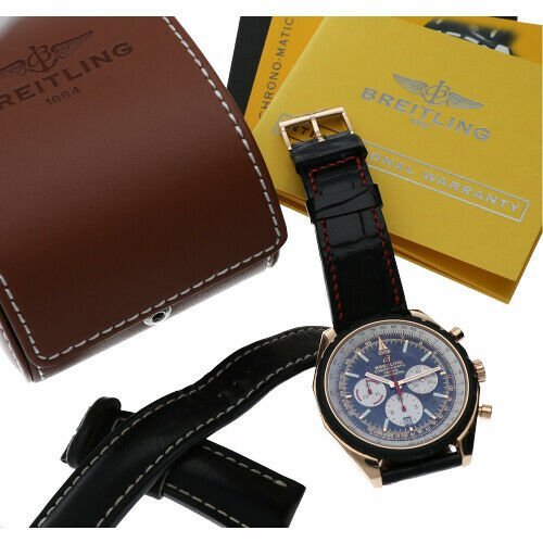 Breitling R14360 Chrono Matic 49 Limited Edition Rose Gold Automatic Mens Watch 133383550405 7