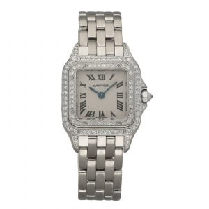 Cartier 1660 Panthere 18k White Gold Diamonds 22mm Swiss Quartz Ladies Watch 124554213145