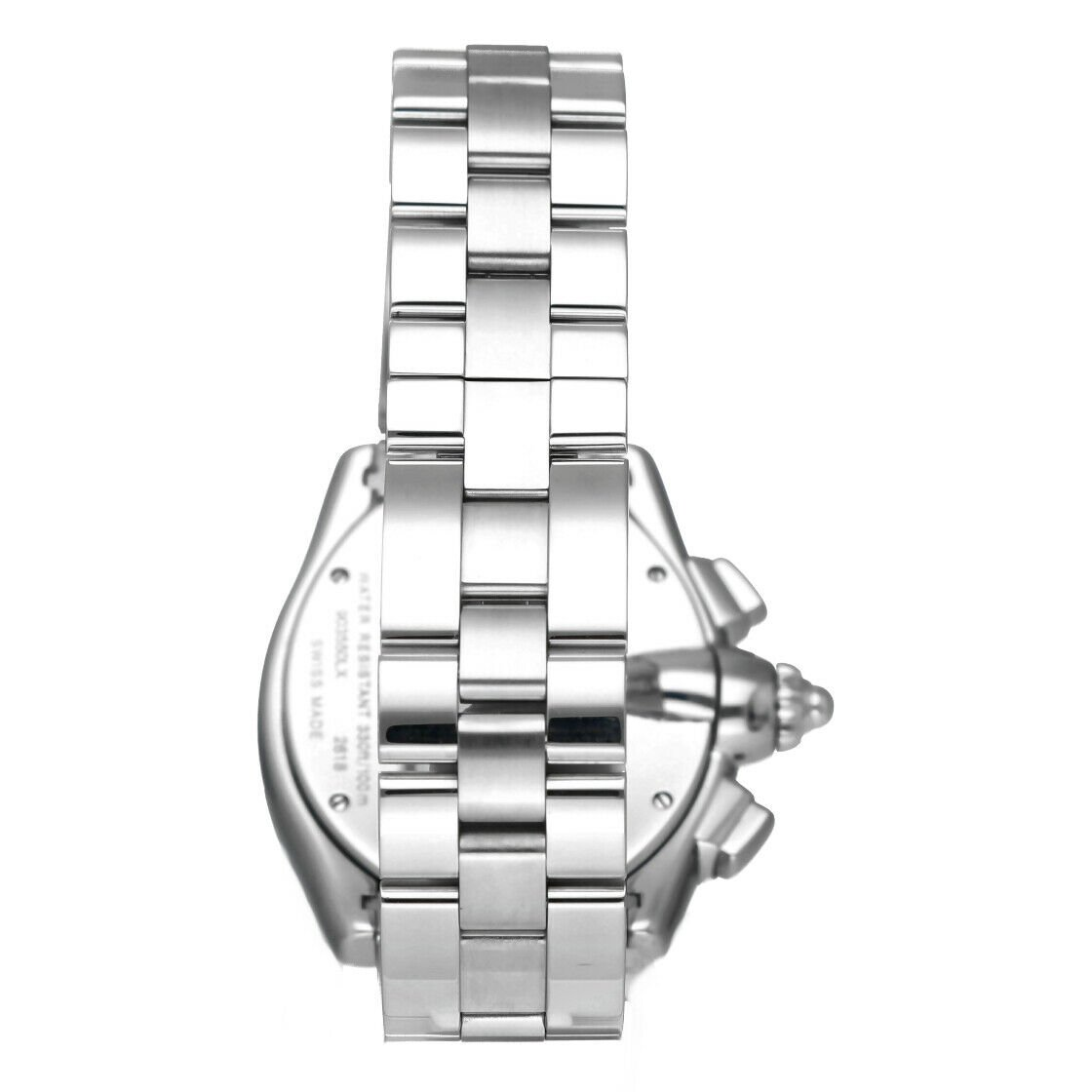 Cartier Roadster 2618 Chronograph XL Silver Dial Stainless Steel Mens Watch 114339442665 5