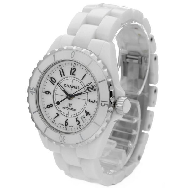 Chanel J12 H0970 LD 98440 White Ceramic Arabic Dial 39mm Automatic Womens Watch 114476497925 2