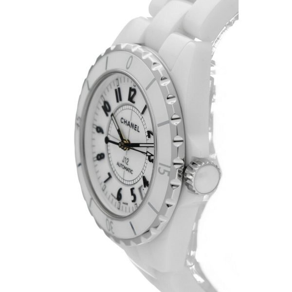 Chanel J12 H0970 LD 98440 White Ceramic Arabic Dial 39mm Automatic Womens Watch 114476497925 3