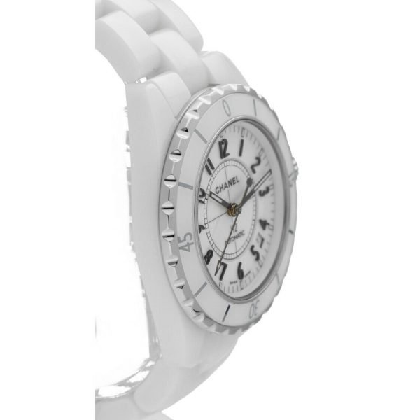 Chanel J12 H0970 LD 98440 White Ceramic Arabic Dial 39mm Automatic Womens Watch 114476497925 4