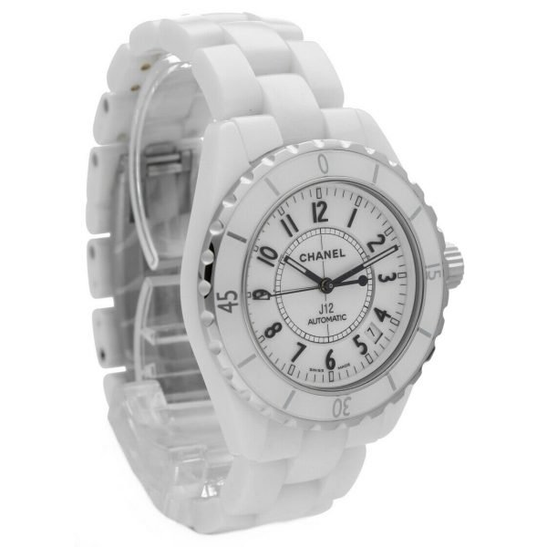 Chanel J12 H0970 LD 98440 White Ceramic Arabic Dial 39mm Automatic Womens Watch 114476497925 5