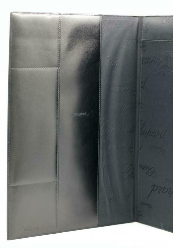 Chopard 95 7041 Black Leather Rubber Accent Folder A4 Planner Pad 113962965705 3