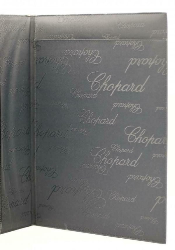 Chopard 95 7041 Black Leather Rubber Accent Folder A4 Planner Pad 113962965705 4