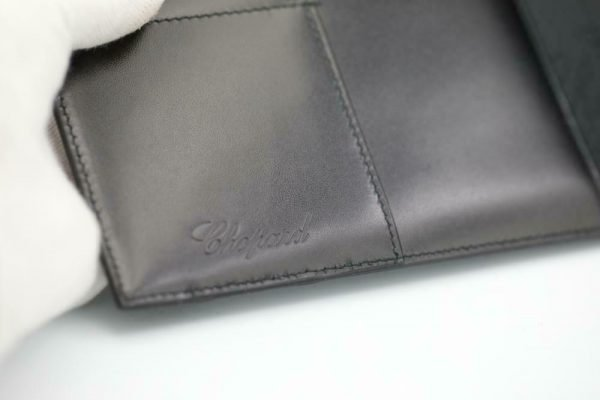 Chopard 95 7041 Black Leather Rubber Accent Folder A4 Planner Pad 113962965705 6
