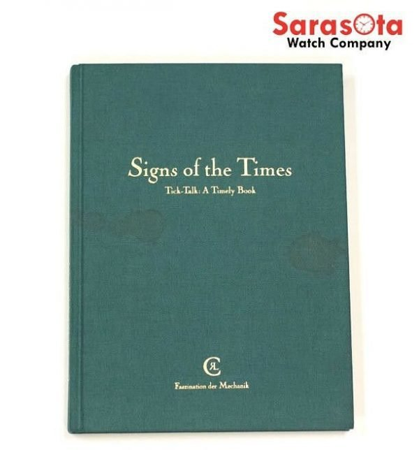 Chronoswiss Signs of the Times Tick Talk A Timely Book Gerd R Lang Signed 1st 122141377365 2