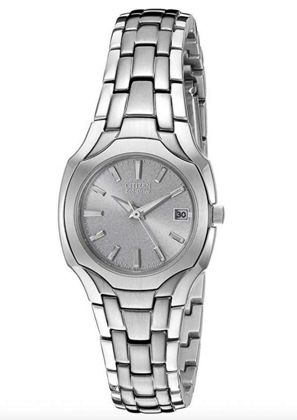 Citizen Eco Drive EW1250 54A Gray Dial Stainless Steel Classic Womens Watch 133299627355