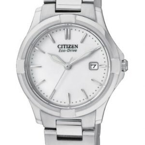 Citizen Eco Drive EW1960 59A Silhouette Stainless Steel White Dial Ladies Watch 133299630245