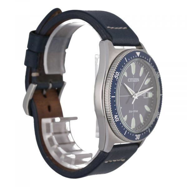 Citizen-Eco-Drive-J810-R010913-Steel-43-mm-Blue-Dial-Leather-Solar-Mens-Watch-114708187465-2