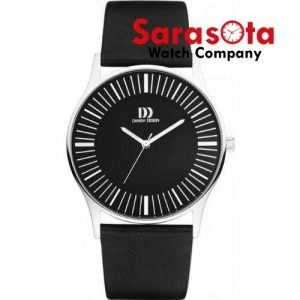 Danish Design IQ13Q1006 White Dial Stainless Steel Black Leather Mens Watch 122242115315