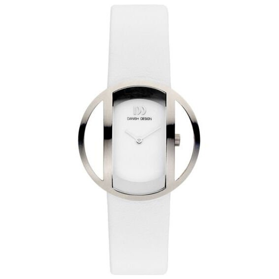 Danish Design IV12Q933 Titanium White Leather Classic Quartz Womens Watch 132010626425