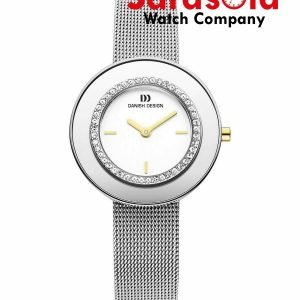 Danish Design IV65Q998 White Dial Two Tone Stainless Steel Crystal Womens Watch 122241985015