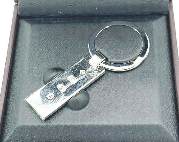 Dunhill JF8706K Rectangle Hallmark 925 Sterling Silver Keychain Mens Gift 133076270575